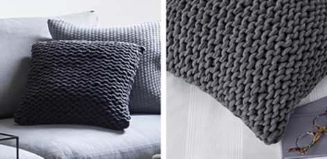 Wilby Cushion Cover - Charcoal