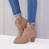 Western Jeans Boots - Sand