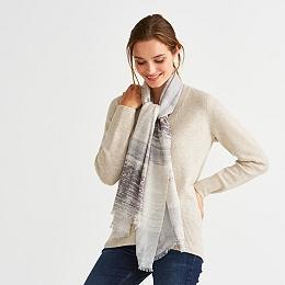 Wool Watercolor Stripe Scarf