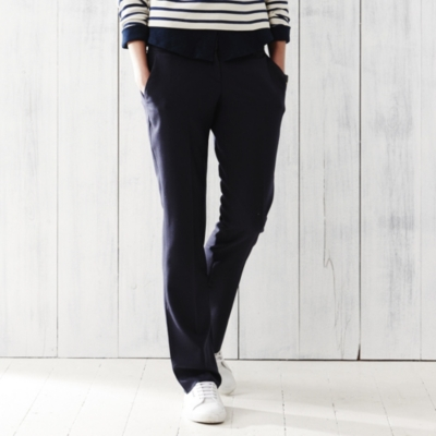 Wide Leg Trousers - Navy