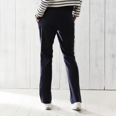 Wide Leg Pants - Navy