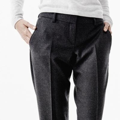 Wide Leg Pants - Dark Charcoal Marl