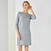 Wool Mix Jersey Shift Dress