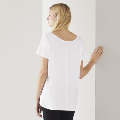 Wide Neck Top - White