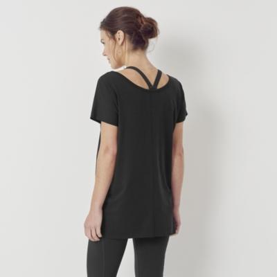 Wide Neck Top - Black
