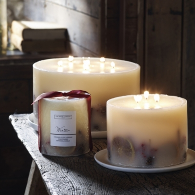 Winter Botanical Large Pillar Candle