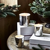 Winter Silver Candle With Lid