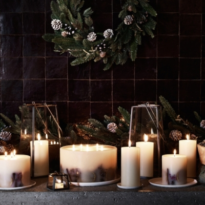 Winter Pillar Candle