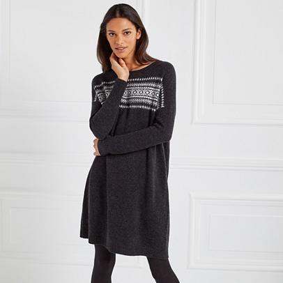 Wool Blurred Fair Isle Dress | Dresses & Skirts | The White Company US