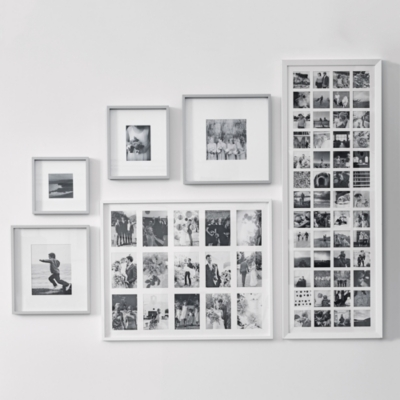 Fine Wood Picture Frame 8x10'' - Gray