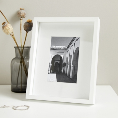 "Fine Wooden Frame 4x6"" - White"