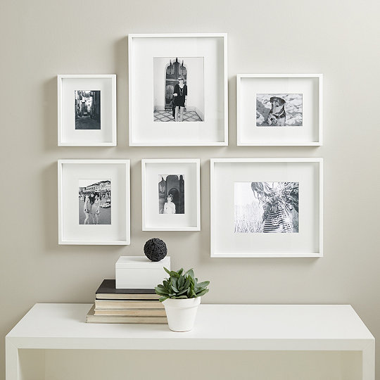 picture gallery small wall photo frame set - White Gallery Frames