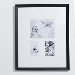 3 Aperture Wooden Frame - Black