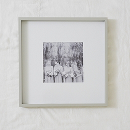 "Fine Wood Picture Frame 8x8"" - Gray"