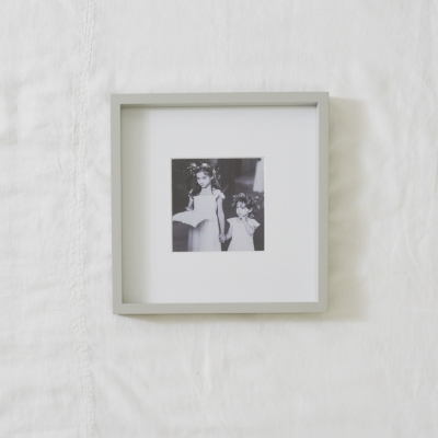 "Fine Wood Picture Frame 5x5"" - Gray"