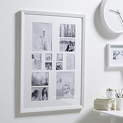 12 Aperture Wooden Frame - White