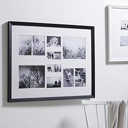 12 Aperture Wooden Frame - Black