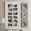 Wide Wooden Photo Frame 12 Aperture - White