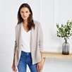 Waterfall Ribbed Cardigan - Taupe Marl