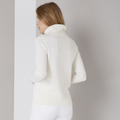 Wide Ribbed Roll Neck Sweater