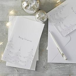 Christmas Tree Cards Set of 10
