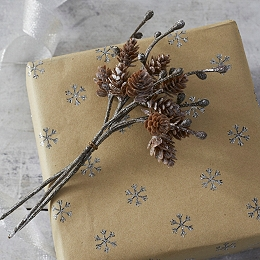 Frosty Pinecone Ties - Set of 3