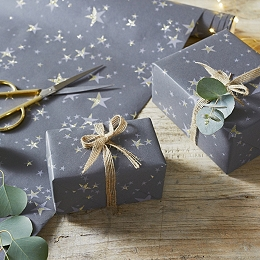 Glitter Star Wrapping Paper - 6m