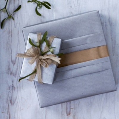 Silver Kraft Gift Wrap - 32ft