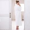 Unisex Waffle Cotton Robe - White