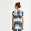 Linen Wide Striped T-Shirt