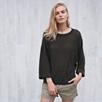 Linen Wide Sleeve Sweater