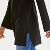 Wide Sleeve Ribbed Tunic - Black