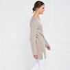 Wide Sleeve Ribbed Tunic - Taupe Marl