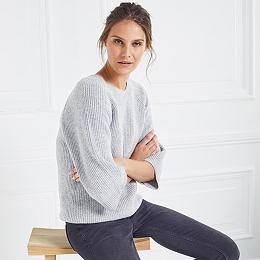 Wide Sleeve Rib Sweater