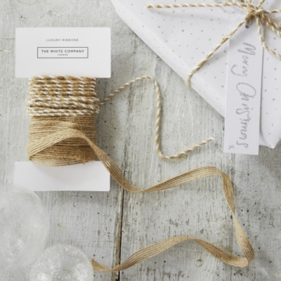 Kraft Christmas Ribbon - Set of 2
