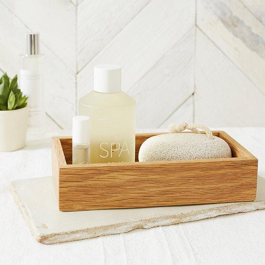 wooden rectangular tray - Wooden Bathroom Accessories Uk
