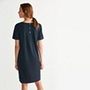 Woven Trim T-Shirt Dress