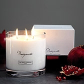 Buy Pomegranate Large 3-Wick Candle from The White Company