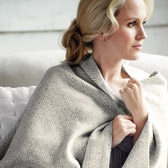 Buy Herringbone Cashmere Throw from The White Company