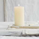 Buy Unscented Pillar Candle from The White Company