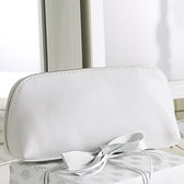 Leather Wash Bag - White