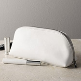 Leather Make-Up Bag - White
