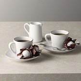 Buy Stoneware Coffee Cups & Saucers with Jug from The White Company