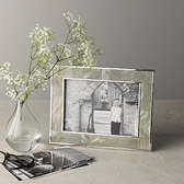 Buy Mother Of Pearl Photo Frame 5x7 - Grey from The White Company