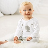 Buy Polar Bear Stripe Pyjamas from The White Company