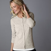 Buy Classic Cashmere Cardigan - Cloud from The White Company