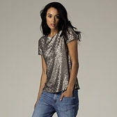 Sequin Top - Champagne
