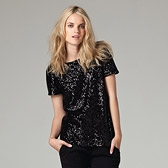 All Over Sequin Top - Black