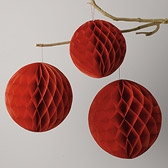 Hanging Honeycombs - Red