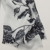 Faded Flower Scarf -Grey